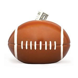 Football Sports Themed Ceramic Kids Piggy Bank Bedroom Decor - 1