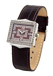 Kleynod Women's Stainless Steel Quartz Watch with Genuine Swarovski Crystals