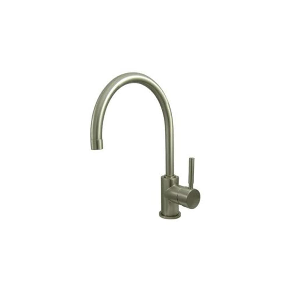 Elements of Design ES8711DLLS South Beach Single Handle Kitchen Faucet with Plate without Sprayer, 8  1/2, Polished Chrome