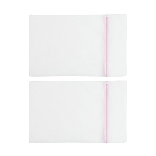 mesh-fermeture-a-glissiere-blanchisserie-robe-vetements-bra-sac-de-lavage-2-pcs-blanc