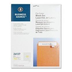 Business Source Block-out Filing Laser/Inkjet Label