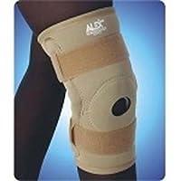 Neoprene Hinged Knee Brace Open Patella, Extra Large, Beige 9036
