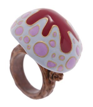 Q-pot. Disney Alice in Wonderland Mushroom Ring 6.0 US size Blue New