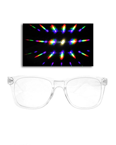 [Emazing Lights Diffraction Prism Rave Glasses (Transparent)] (Edc Costumes Men)
