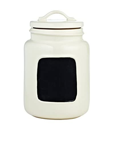 Rae Dunn by Magenta Small Chalkboard Jar, White