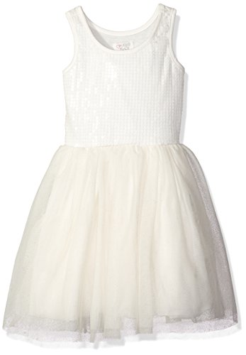 The Children's Place Big Girls' Sequin Tutu Dress, Simply White, Large/10/12