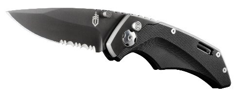Gerber Contrast Knife, Assisted Opening, Serrated Edge [30-000784]