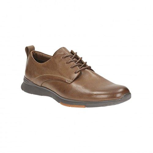 Clarks Habillé Homme Tynamo Walk Cuir Chaussures De Marron