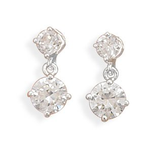 4mm/6mm Round CZ Post Earrings