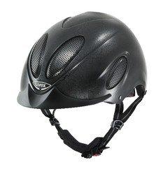 UVEX Reithelm FP2 FLASH black leather look Größe