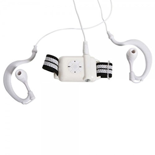 Mo2Mo@ 4Gb Cartoon Waterproof Sports Headphones - Best Swimming Diving Mp3 Music Player Fm Radio Earphone White