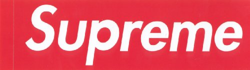 Supreme Store Red Box Logo Clothing Sticker - NYC Store Streetwear Kaws Skateboard BMX Hip Hop Hipster