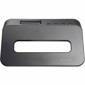 Choiix Mini Air-Through Station d'accueil pour ordinateur portable avec hub 4 ports USB et ventilateur 70 mm noir