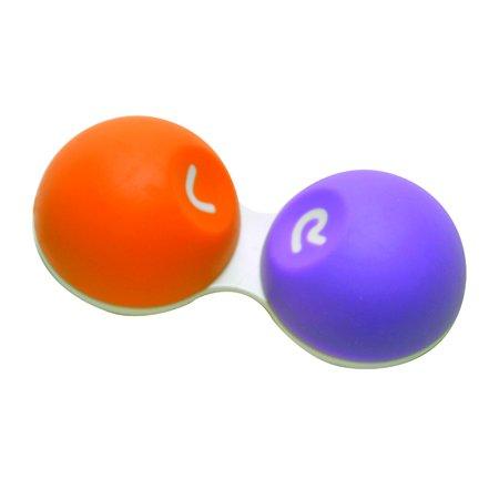 Soft Grip Contact Lens Case Orange Purple (Orange Contact Lenses)