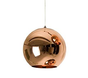 Nilight New Copper Shade Mirror Ball Ceiling Light