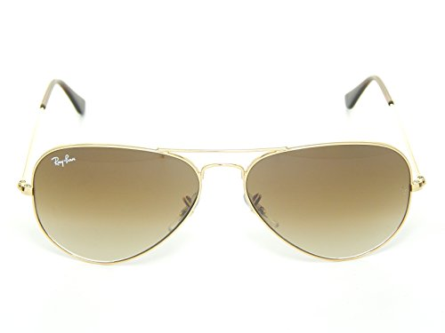 Image of New Ray Ban Aviator RB3025 001/51 Arista/Crystal Brown Gradient 62mm Sunglasses