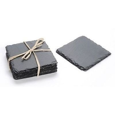 Slate Coasters Square 4 x 4 inches 4 Pieces Quality Gift Wedding Favor ACC-0019
