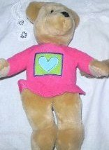 Hallmark Collectible Kiss Kiss Valentine Love Bear Plush Toy Pink Shirt