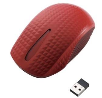 ELECOM Touch Sensorマウス 無線 BlueLED レッド M-TC01DBRD