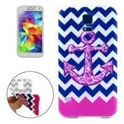 Wave Anchor Pattern TPU Protective Case for Samsung Galaxy S5 mini / G800