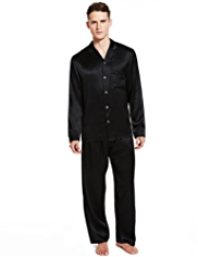 Boxed Autograph Pure Silk Revere Collar Pyjamas