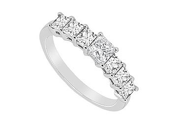 Diamond Wedding Band : 14K White Gold - 2.50