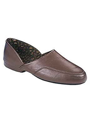 Dr. Scholl's Men's Slippers - Closed Back Brown, Size 13 W