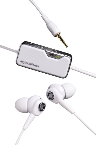 Digital Silence Ds-321D Stereo Digital Ambient Noise Cancelling Earphones With Microphone - White