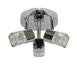 9883CC 3 Light Ice Cube Ceiling Spotlight in Polished Chrome from Searchlight Lighting