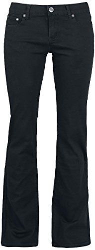 R.E.D. by EMP Grace (Boot-Cut) Pantaloni donna nero W40L34