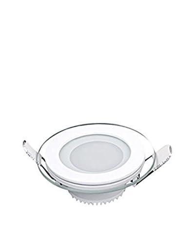 Lights&Deco  Lámpara de Pared/Techo Panel With Glass Recessed Round Blanco