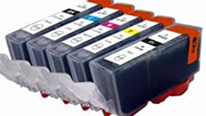 EDIBLE INKS for Canon PGI220,CLI221 set of 5 with Auto-Restting Chips, REFILLABLE