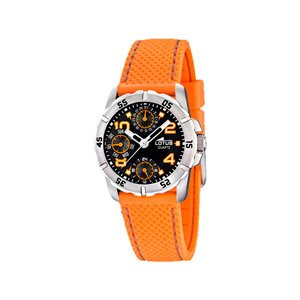 Lotus 15705/4 - Reloj analógico infantil de cuarzo con correa de plástico naranja - sumergible a 50 metros