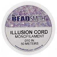 Clear Illusion Monofilament Beading Cord .01 Inch (150 Feet) by Beadsmith