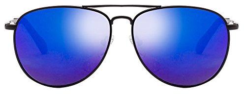 Vincent Chase VC 5884 Matte Black Blue Mirror C1 Aviator Sunglasses (101538)