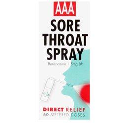 AAA Sore Throat Spray - 60 Metered Doses
