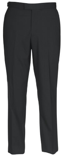Brook Taverner Chiswick Suit Trousers in Black 28R