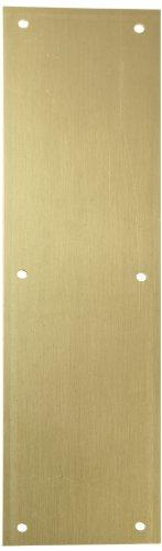 Rockwood 70C.32D Stainless Steel Standard Push Plate, Four Beveled Edges, 16