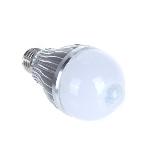 dodocool 8W E27 W LED-Lampe, Sensory, mit Infrarot Bewegungsmelder PIR Sensor 6-LED Lampe Leuchte, weißes Licht
