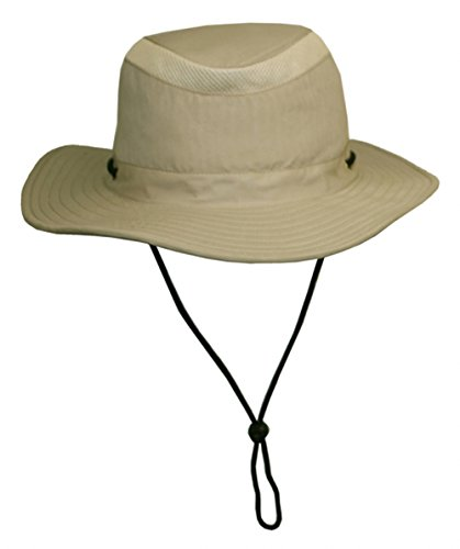 Unisex Safari Sun Bucket Hat with Hidden Cash/Card Pocket - Lightweight - 100% Quik-Dry Nylon - 50 UPF-UV Sun Protection - Large/X-Large (Khaki) (Camo Rain Boats compare prices)