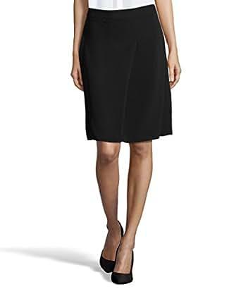Tahari Women's Woven Larissa Knee Length A-Line Skirt 12 Black at
