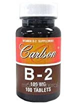 Vitamin B-2 100 Tablets by Carlson Labs