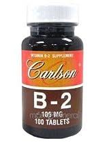 Vitamin B-2 100 tabs by Carlson Labs
