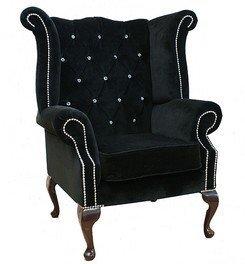 Chesterfield Swarovski Queen Anne High Back Wing Chair
