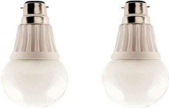 5W LED Glass Bulbs (White, Pack of 2)