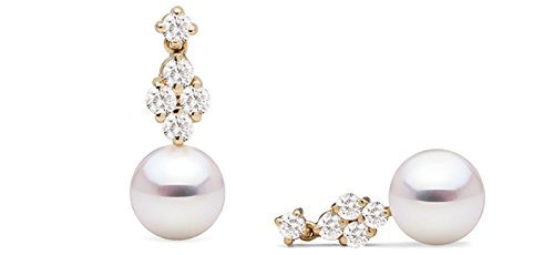 Pearl Paradise Women's Pearl And Diamond Earrings