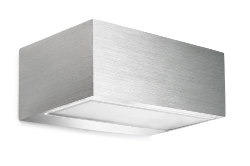 Leds C4 Indoor Lighting Nemesis Brushed Aluminium Wall Fixture