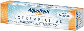 Aquafresh Extreme Clean Whitening Toothpaste, Packaging May Vary, 7-Ounce Tubes (Pack of 6)