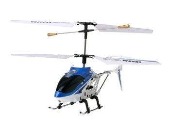 3-Channel Alloy Infared RC Helicopter with Gyroscope (Blue)