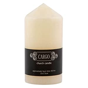 Ivory Church Candle 15x7 by Cargo